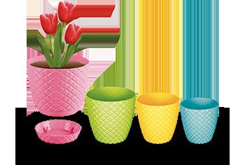گلدان پلاستیکی رومیزی