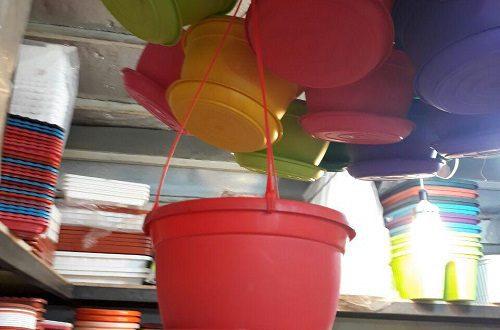 گلدان پلاستیکی بازیافتی