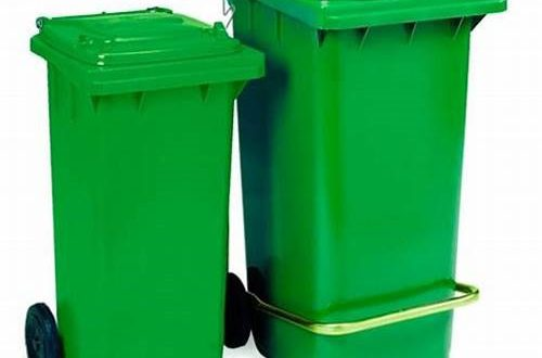 سطل زباله پلاستیکی مخزن دار