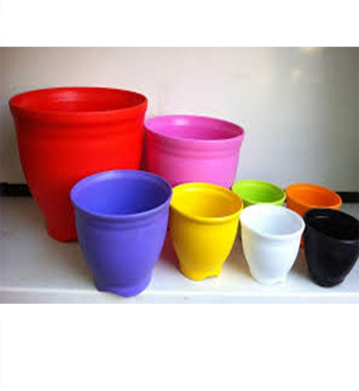 انواع گلدان پلاستیکی رنگی