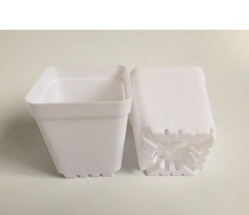 گلدان پلاستیکی سفید ارزان