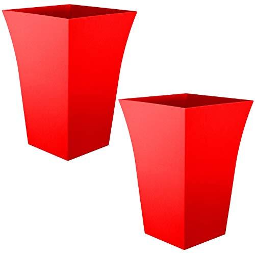 گلدان پلاستیکی قرمز